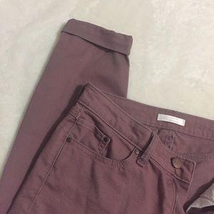 LC Lauren Conrad Cuffed Skinny Jeans